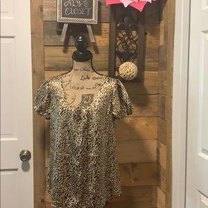 Nine  leopard blouse size M